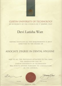 Devi Latisha Watt is the Dental Hygienist at Oasis Orthodontics